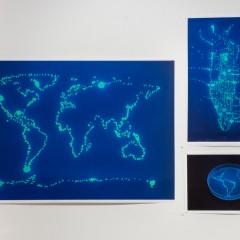 Digital print of fluorescent bacteria