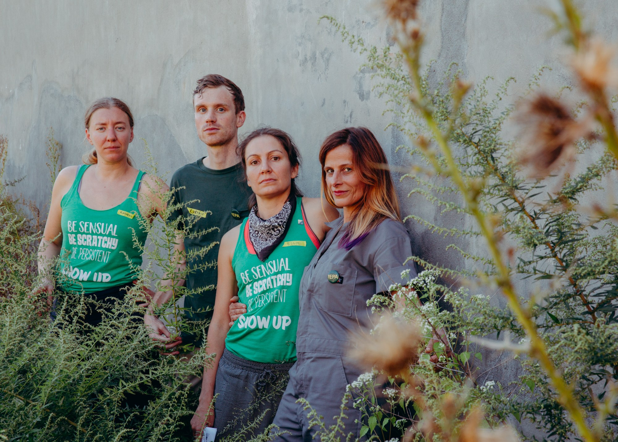 Photo of the EPA Agents: Catherine Grau, andrea haenggi, Ellie Irons, and Christopher Kennedy.